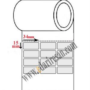 لیبل کاغذی سایز 34*15 لیبل پر چسب تولید کنندگان عرضه کنندگان-لیبل پر چسب