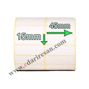 لیبل کاغذی سایز 45*15-لیبل 45*15-لیبل 15در45-کاغذ های پشت چسب دار-چاپ اطلاعات کالا