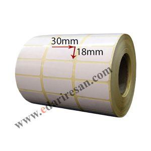 لیبل کاغذی سایز 30*18-کاغذی-لیبل پرینتر-edariresan.com-لیبل زن